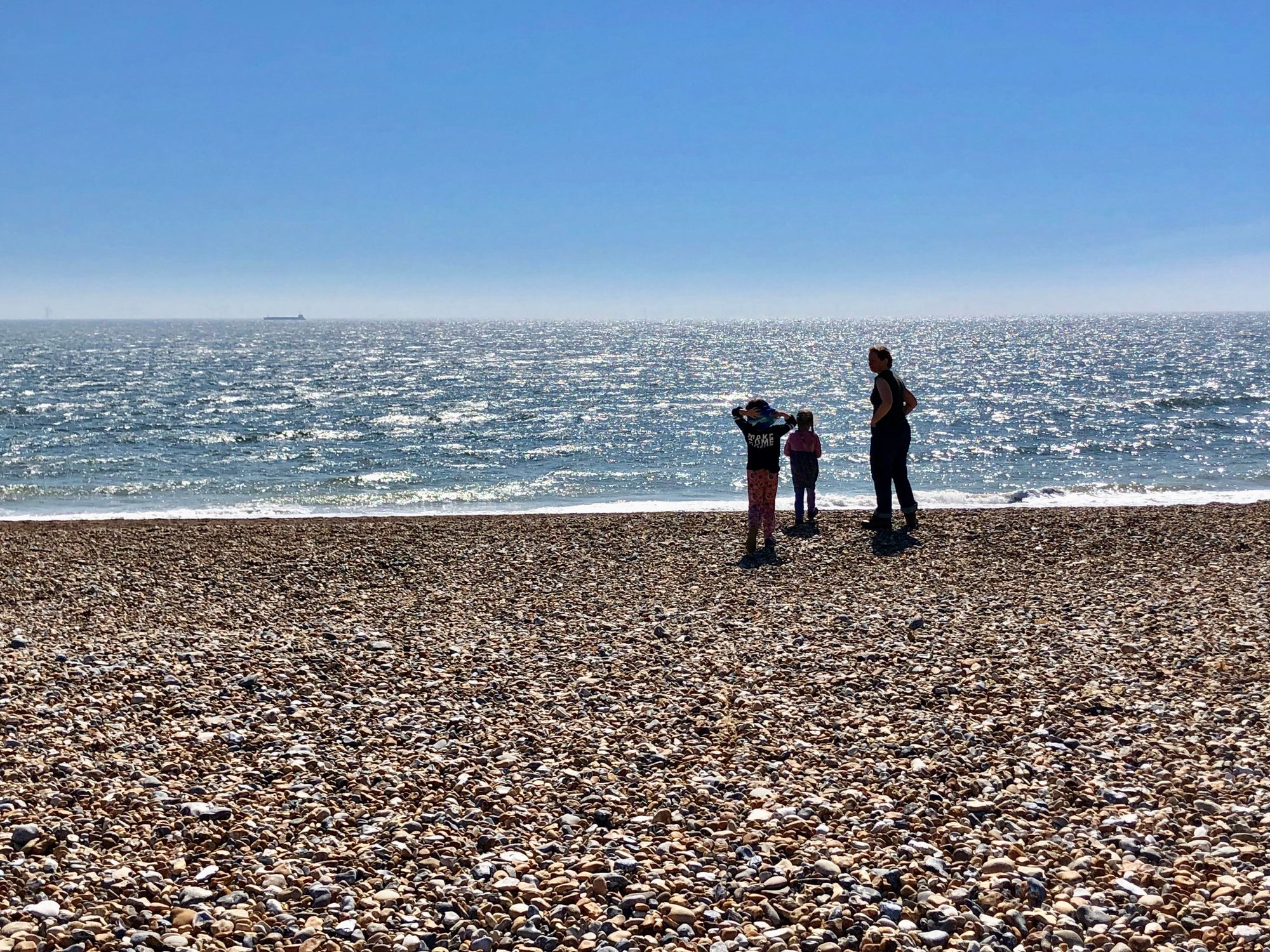 The Tinworth Family on Shoreham Beach