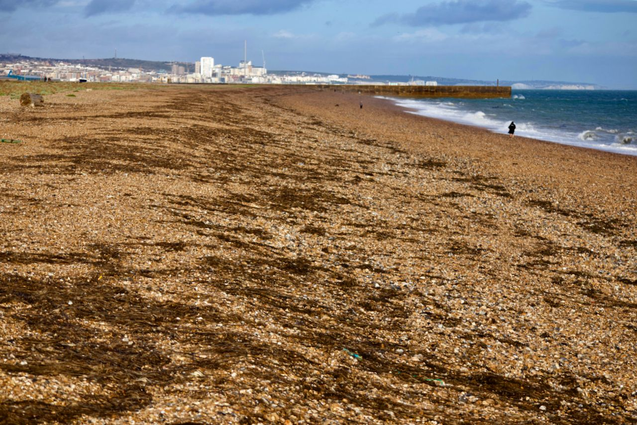 Shoreham Beach after Storm Ellen