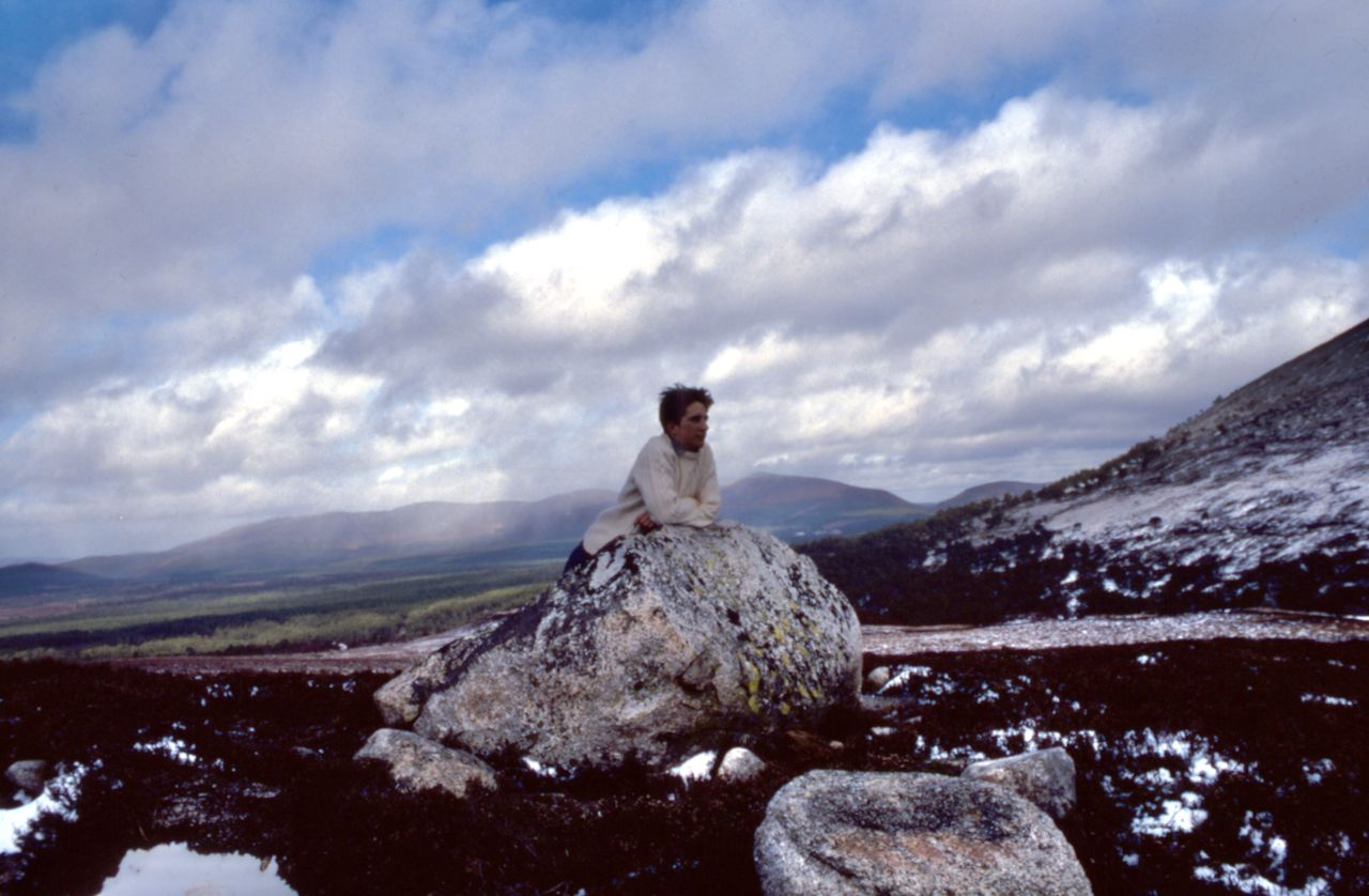 A very young me in the Cairngorms